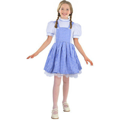 Dorothy Costumes Girls Gingham Plaid Halloween Wizard of Oz Cosplay Fancy Dress
