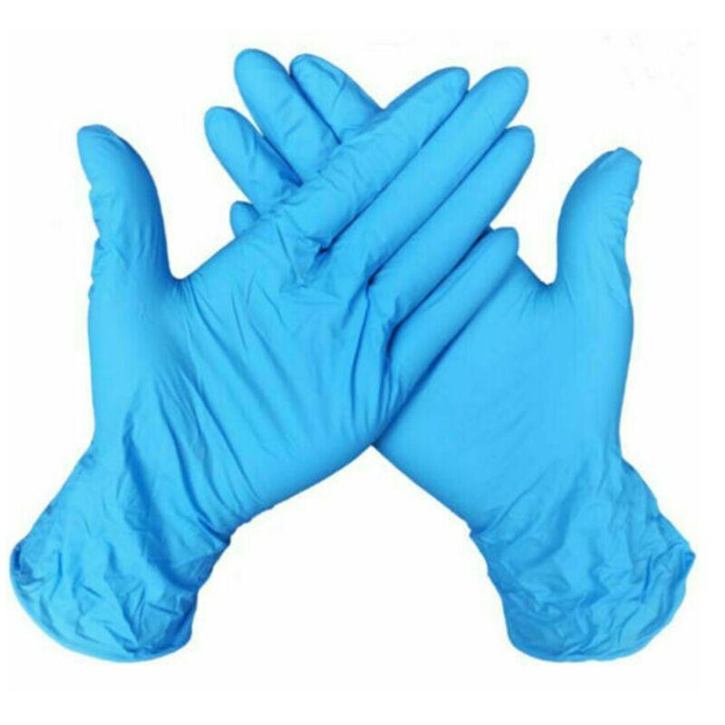 100/500/1000 pcs Gloves Powder Free Nitrile Examination Gloves Blue