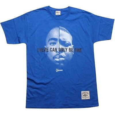 28 Undercrown There Can Only Be One  Biggie Smalls Tupac Tee Blue