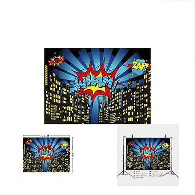 Party City Decoration Themes (5x3FT Photography Backdrops Superhero City Theme Booth Birthday Party)