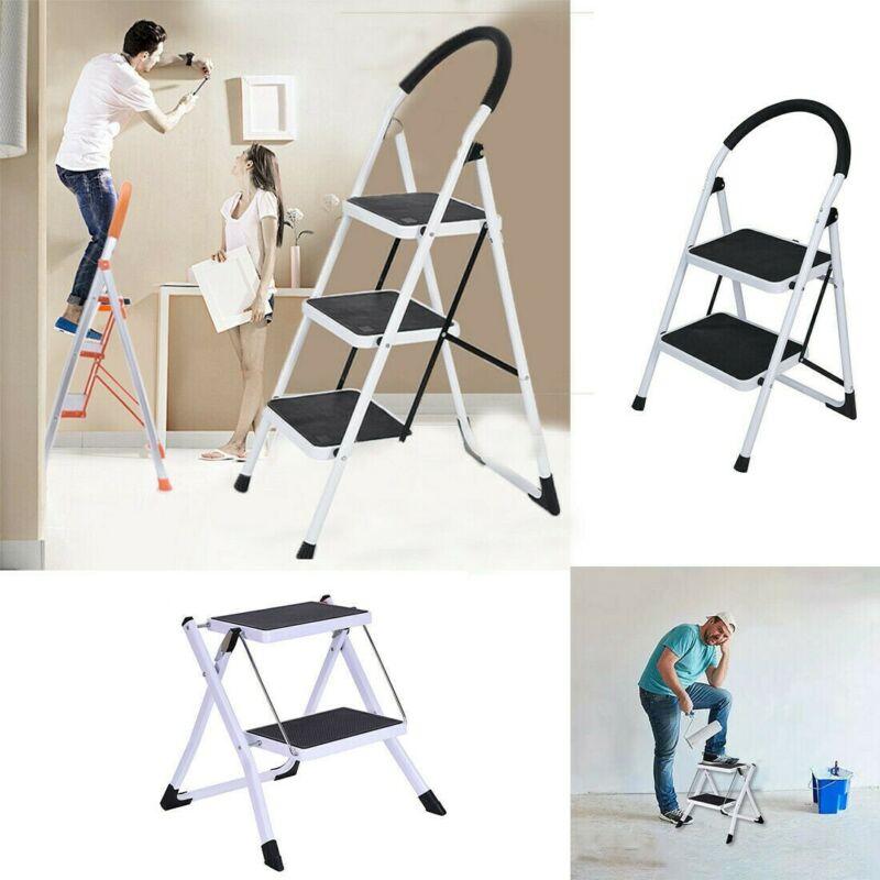 Heavy Duty Anti-slip Solid Pedal Handle2/3 Step Ladder Foldi