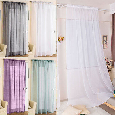 Elegance 1 Pack Sheer Window Curtain Panel Drape 72