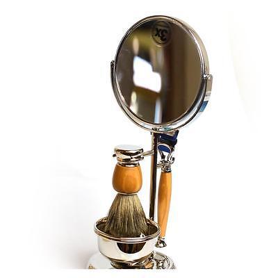 Set completo da barba Il Ceppo Beethoven specchio pennello tasso rasoio Fusion