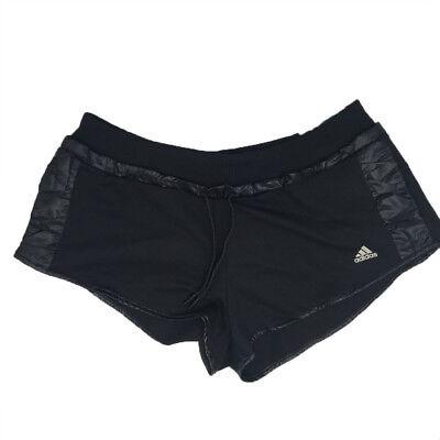 Adidas Schwarz Damen Climacool Damen Training Fitness Shorts - Adidas Kordelzug Shorts