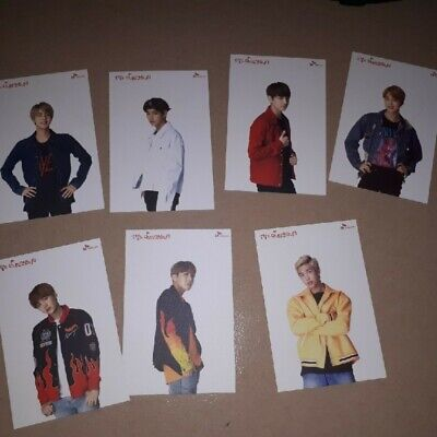 BTS x SKT Promotional Official Post Card 7 member Set