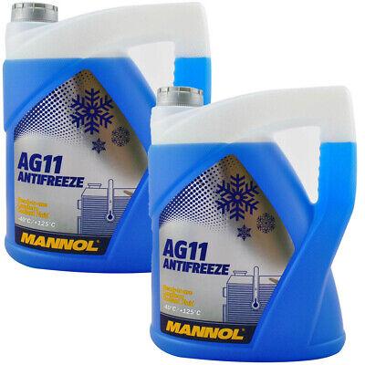 Mannol KÜHLER FROSTSCHUTZ BLAU G11 -40°C GEBRAUCHSFERTIG TL774C 10 LITER (2x5)