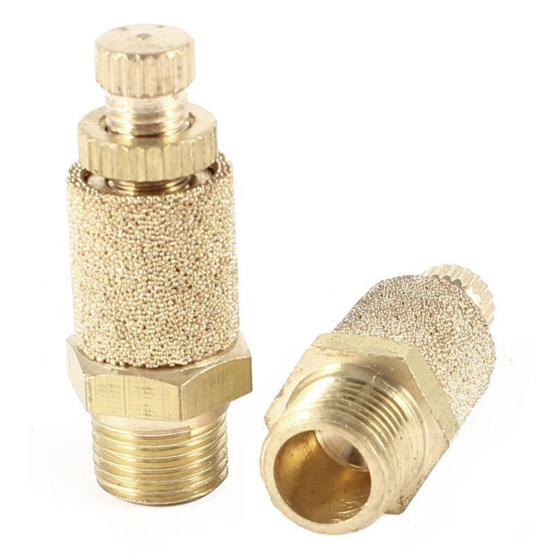 """5pcs Pneumatic Brass Flow Control Silencer NPT 1/8"""" Air Exhaust Muffler Fitting"""