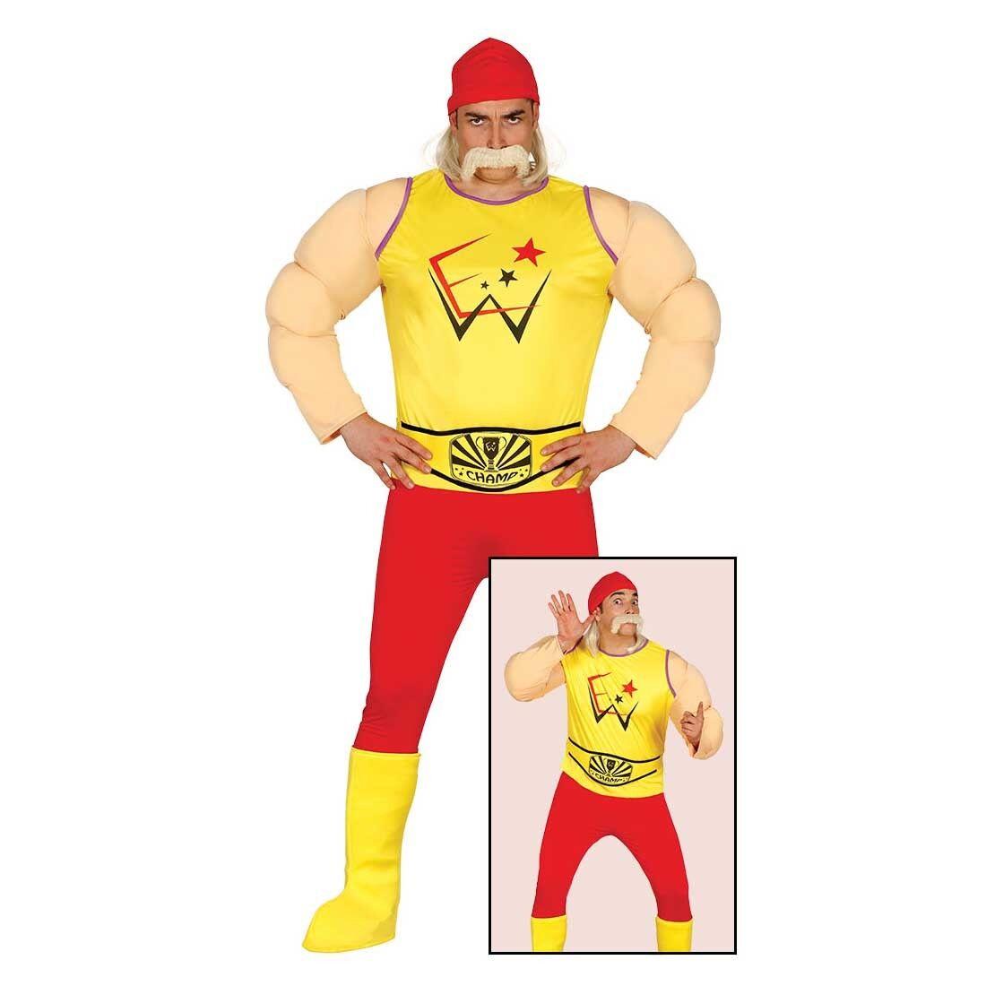Ringer Herrenkostüm Wrestler L (52/54) Hulk Hogan Kostüm Wrestling Outfit
