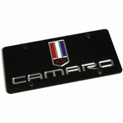 Laser Plate Camaro Mirror Logo Color Black License Plate Frame 3D Novelty Tag