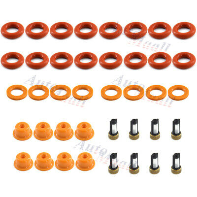 Fuel Injector Repair Kit O-Ring Cap for Ford MUSTANG THUNDERBIRD CROWN VICTORIA Ford Fuel Injector O-ring