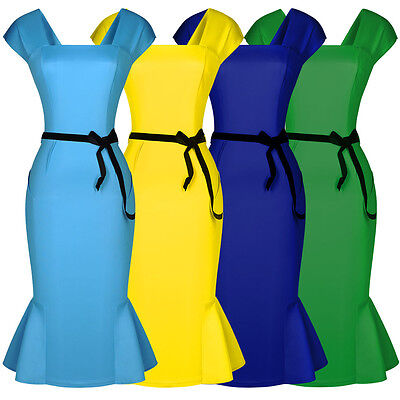 Damen Etuikleid Cocktail Partykleid Pencil Rock Stil Business Abendkleid 36-44 online kaufen