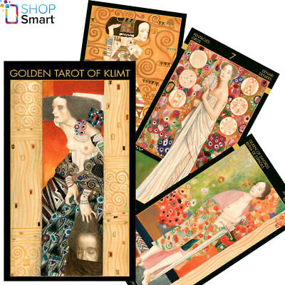 GOLDEN TAROT OF KLIMT DECK CARDS MULTILINGUAL ESOTERIC TELLING LO SCARABEO NEW