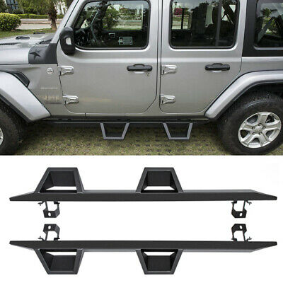 Drop Down Side Steps Running Boards Door Entry Guard for Jeep Wrangler JL 4 -