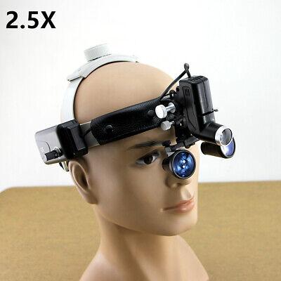2.5x Headband Dental Loupes Magnifier Headlight Binocular Glasses Cv-289