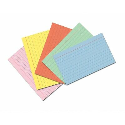 Multicolored Index Cards - Assorted Colors