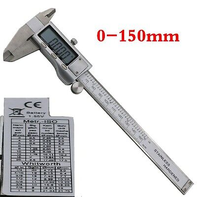 Stainless Steel Digital Lcd Vernier Electronic Caliper Micrometer Guage 6 150mm