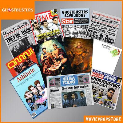 GHOSTBUSTERS Magazin-Cover Prop-Sammlung - 11 Props - Fanartikel - NEU