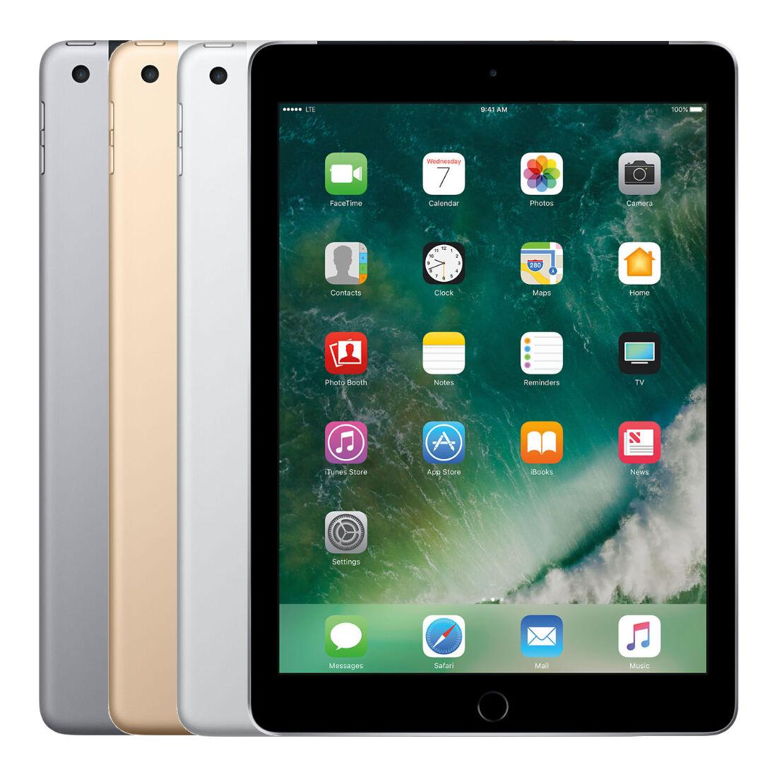 """Apple iPad 5th Gen 32GB 9.7"""" WiFi 4G LTE """"Factory Unlocked"""" Tablet"""