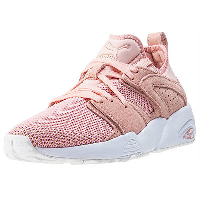 Puma Blaze Of Glory Soft Tech Womens Trainers Pink White New Shoes фото 48a89042f72
