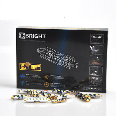 11x White Interior LED Lights Kit for Chevy Trailblazer or GMC Envoy 2002-2009