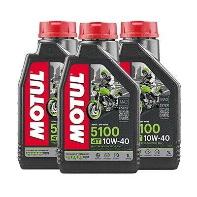 OLIO MOTORE MOTO MOTUL 5100 10W40 MA2 3 LITRI 3LT Technosynthese®-Estere