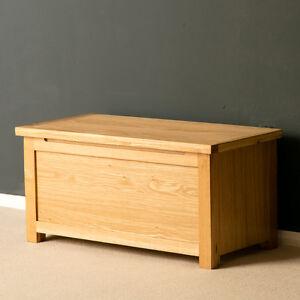 London Oak Blanket Box / Light Oak Blanket Box / Solid Wood Trunk / Brand New