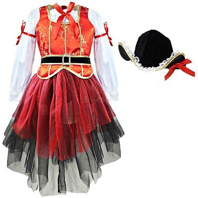 Child/Kids Girl Sea Pirate Costume Halloween Fancy Dress Up Party Cosplay Outfit