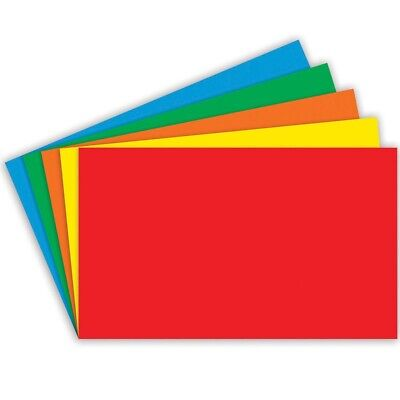 Unruled Primary Color Index Cards By Top Notch Teacher - 5x8 - 5x8 Unruled