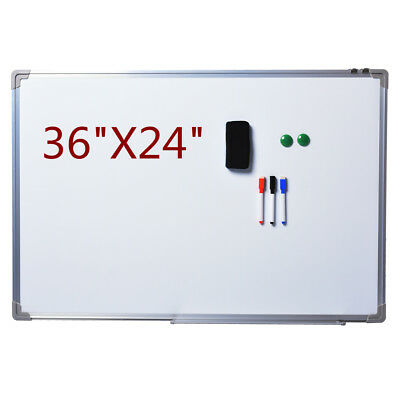 New Single Side Magnetic Writing White Board 36 X 24 Office School Dry Erase