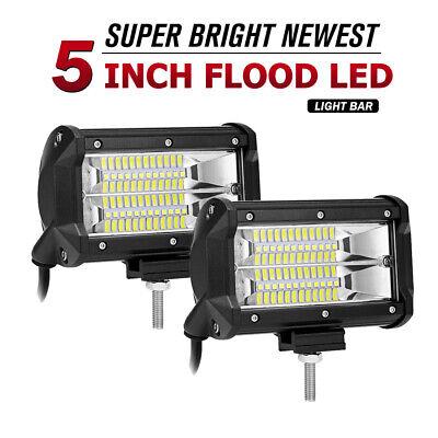 5inch LED Work Light Bars 168W Backup Bumper Driving Pods Off-Road ATV 4WD Truck