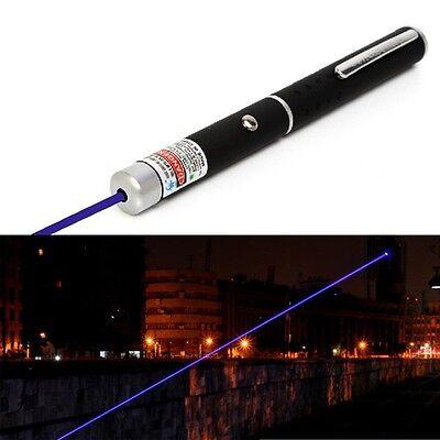 Blue Purple 5miles 532nm Laser Strong Pen Powerful 8000M Black pointer NEW 1PC
