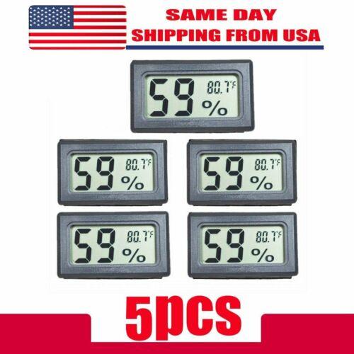 US 5 PCS Digital LCD Indoor Temperature Humidity Meter Therm