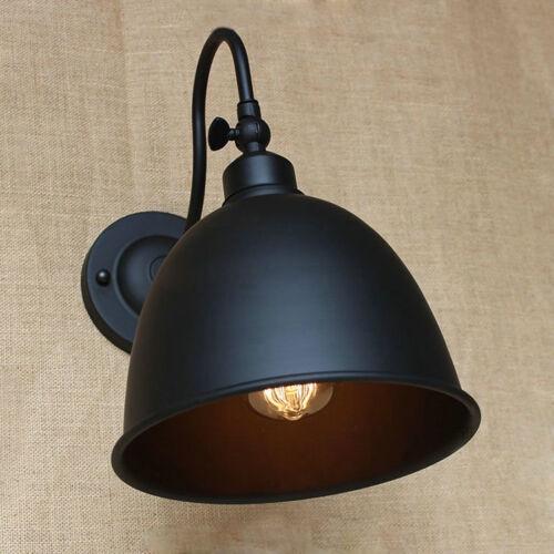 Industrial Edison Gooseneck Barn Wall Lamp Dome Shade Sconce