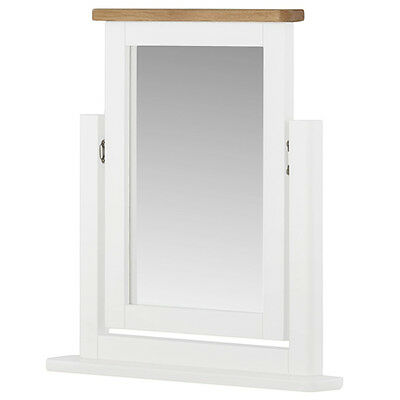 Padstow White Painted Dressing Table Mirror / Swivel Mirror / Solid Wood / Oak  for sale  Shipping to Ireland