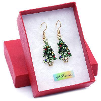 X-Mas Holiday Christmas Tree Earrings Women Girls Thanksgiving Jewelry