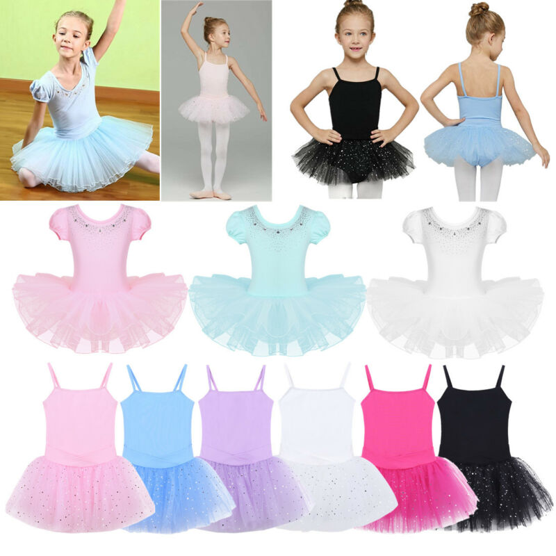 62c8c2681 Kids Girls Dance Outfit Jazz Ballet Sequins Crop Top+Skirt Dancewear ...