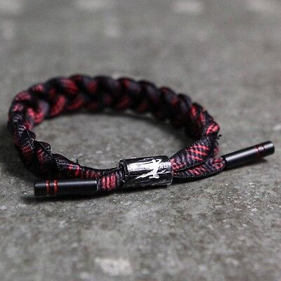 Bait X Bruce Lee X Rastaclat Shoelace Bracelet   Dragon Black Red