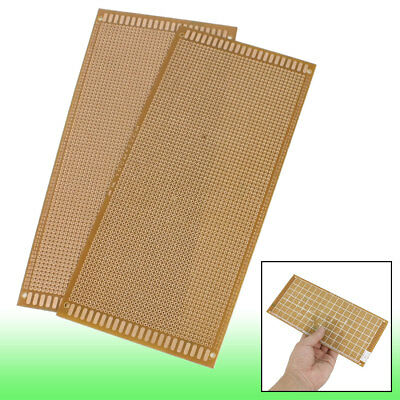 2 Pcs Copper Tone Prototyping Pcb Print Circuit Board 10cm X 22cm