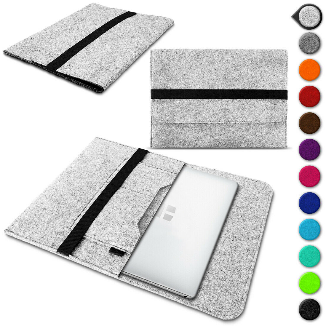 Tasche Notebook Filz Hülle Sleeve Cover Schutzhülle Laptop Case Tablet Macbook