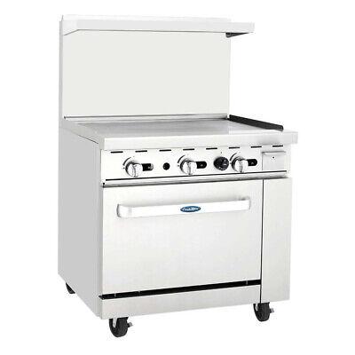 Atosa Usa Agr-36g-lp 36 Gas Restaurant Range 1 Standard Oven 1 Griddle