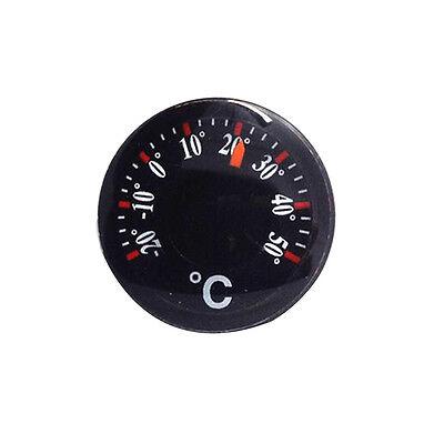New Portable Black Thermometer Plastic Round Pointer Temperature Sensor Tools T