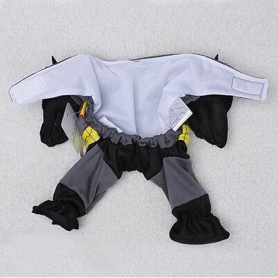 Pet Dogs Puppy Cotton Cloth Batman Costume Outfit Cotton Jumpsuit Apparel Good