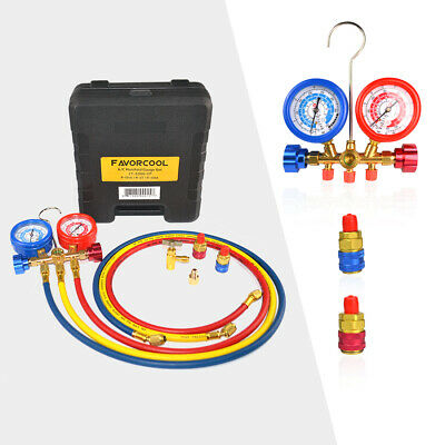 Favorcool Ct-536g Ac Manifold Gauge Set R410a R134a R22 Refrigerants Charge