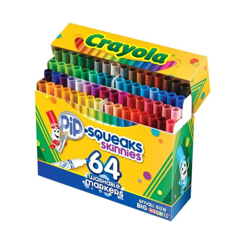 Crayola Pip-Squeaks Skinnies 64-Count Washable Markers