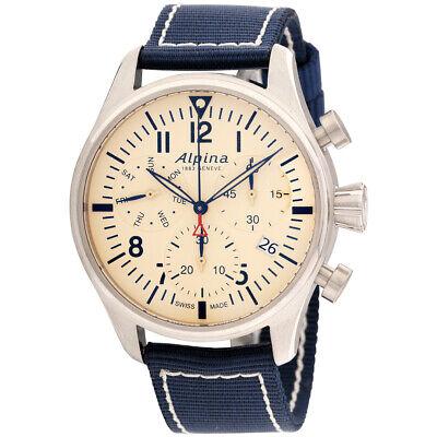 Alpina Startimer Pilot Quartz Movement Beige Dial Men's Watch AL-371BG4S6