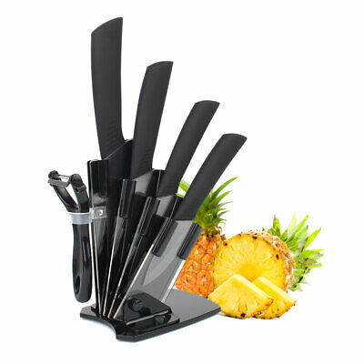 5 Pieces Ceramic Knife Set Kitchen Knife Set Cutlery Set with Acrylic Prevent a rough out