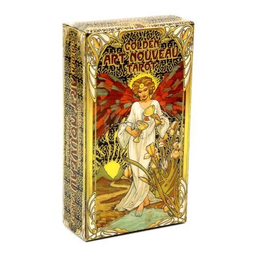 Golden Art Nouveau Tarot Cards Rider Waite Divination Board Party Game Gift 78