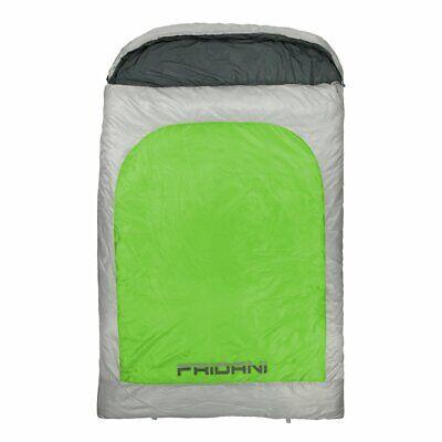 2 Mann Schlafsack BG 235x150 Doppel-Deckenschlafsack Grün -22°C warm &