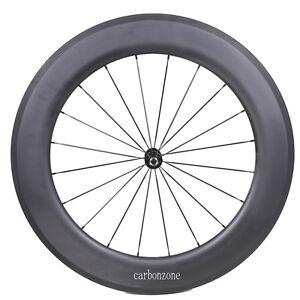 Carbon-27mm-Rim-Clincher-86mm-Tubular-Wheel-Road-Bike-Part-700C-Black-Hub-Spoke