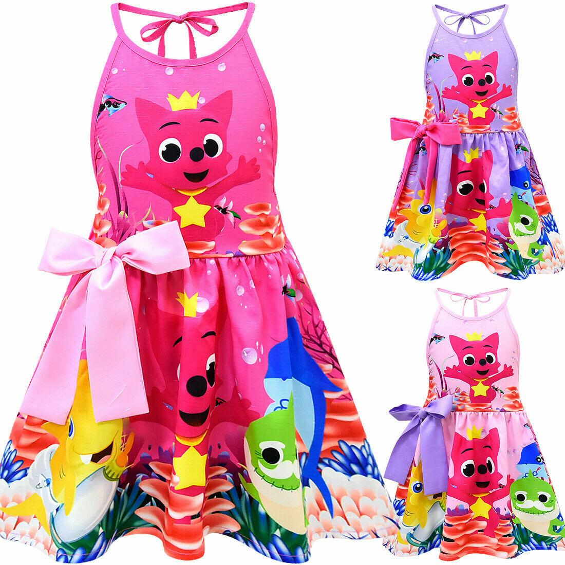 Girls Skater Dress Baby Shark Song Cute Party Birthday Chris